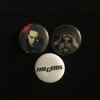 """THE CURE 1"""" buttons"""