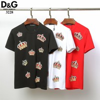 Dolce&Gabbana D&G Fashion Black White Red T-Shirt Top Tee (no stock)