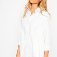 Leni White Shirt Dress - Dresses - PrettylittleThing | PrettyLittleThing.com