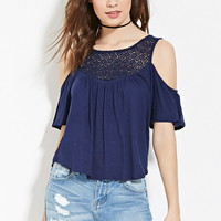 Crochet Open-Shoulder Top | Forever 21 - 2000168513