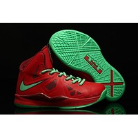 Nike Lebron Red/green Youth Kids Basketball Shoes Us 11c 3y | Best Deal Online