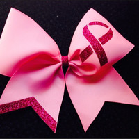 Breast Cancer awareness customizable cheer Bow