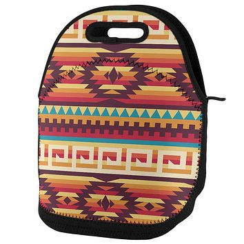 Native American Pattern Lunch Tote Bag