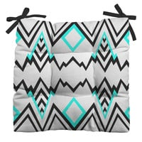 Elisabeth Fredriksson Wicked Valley Pattern 1 Outdoor Seat Cushion