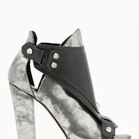 Shoe Cult Hard Crush Bootie - Silver