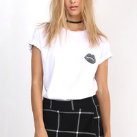 Lovers + Friends Basic Tee with Lips