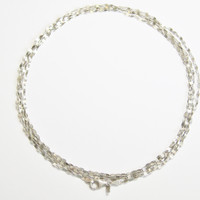Dainty Italian Sterling Marine Chain 60 Inch Flapper Necklace