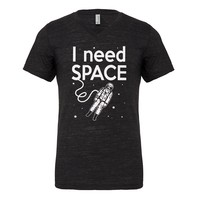 Mens I Need SPACE Vneck T-shirt