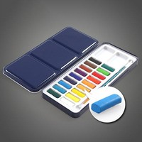 Solid Watercolor Paints Set Portable Perfect Outdoor Painting Pigment Kids Gift Art Supplies