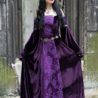 Tinúviel Dress - *most colours available* Handmade Velvet Lord of the Rings Medieval Pre Raphaelite Game of Thrones Pagan Dress