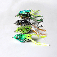 5X Precision Toad Soft Hollow Fishing Lure Crankbait Hooks Bass Baits Frog