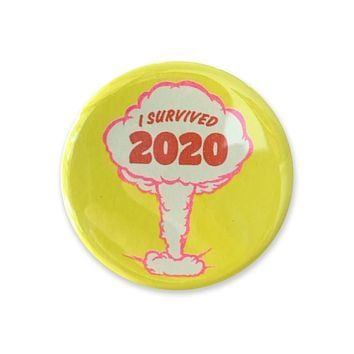 I Survived 2020 Yellow Button - 1.75""