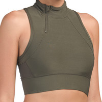 Zip Mock Neck Crop Bra - Clothing - T.J.Maxx