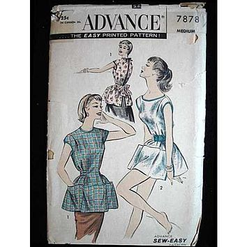 Vintage Advance Cobbler Bib Apron Pattern #7878 1950'S