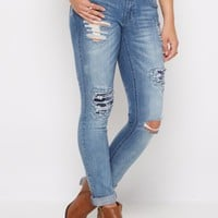 Flex Ripped Floral Embroidered Skinny Jean   Skinny Jeans   rue21