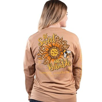 Simply Southern Bumble Bee Sunflower Long Sleeve T-Shirt
