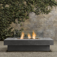 Laguna Concrete Propane Fire Table - Rectangle