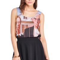 This Is Print Old Couple Print Vest