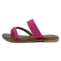 Nia Hot Pink Strappy Sandal