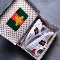 Gucci x Adidas NMD Embroidery Little Bee Trending Fashion Casual Sports Shoes Sneakers