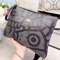 MCM New fashion more letter print leather handbag file package