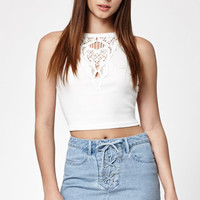 Kendall and Kylie Lace-Up Denim Skirt at PacSun.com