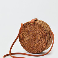 AEO Straw Shoulder Bag, Natural