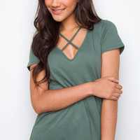 Mark The Spot Top - Olive
