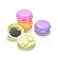 Portable Macarons Contact Lens Travel Kit Case Pocket Size Storage Container HU