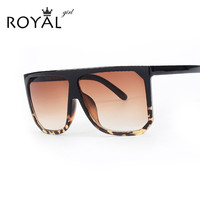 ROYAL GIRL New Brand Designer Fashion Women Sunglasses Oversize Female Flat Top Vintage Sun Glasses Eyewear Oculos de sol ss568