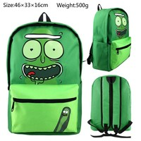 Anime Backpack School Rick and Morty Backpack School bag Shoulder Bag kawaii cute Cosplay AT_60_4