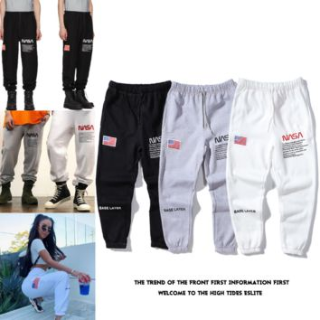 Joint Astronauts Embroidered Logo Pants Sportswear Pants for Men and Women [4106633543716]