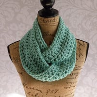 Ready To Ship Infinity Scarf Spring Size Ocean Mint Women's Accessory Infinity Scarf