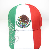 * Mexico Tri-color Design Cap