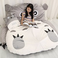 "YOYOMALL Super Soft My Neighbor Totoro Sleeping Bag,Warm Cartoon Tatami Beanbag,My Neighbor Totoro Sofa Bed,Twin Queen Bed Double Bed. (Size 5: 130CM * 190CM (51"" * 75"") ;)"