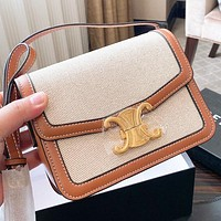 Celine New fashion print leather shoulder bag crossbody bag