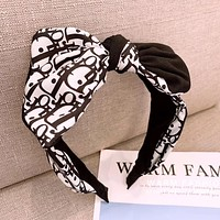 Dior Hot Sale Women Stylish Chic Bowknot Headwrap Headband Head Hair Band Black