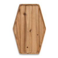 Cedar Wood Hex Tray - Rectangle