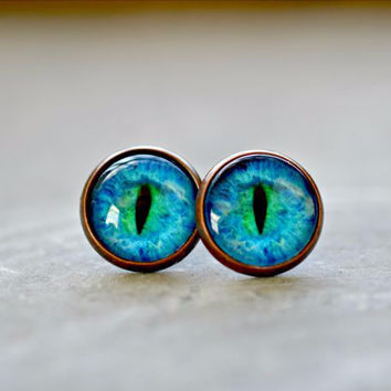 Cat Eye Post Earrings