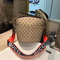 Gucci wide shoulder strap women's shoulder bag crossbody bag
