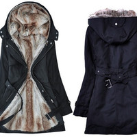 New Hot Fashion Women thicken fleece Warm Coat Lady Outerwear Fur Jacket = 1930526468