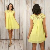 Delicate Balance Dress in Yellow