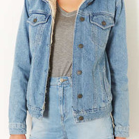 MOTO Vintage Borg Denim Jacket - Jackets  - Clothing