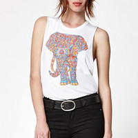Riot Society Groovy Elephant Muscle Tank Top at PacSun.com