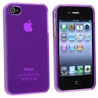 INSTEN Compatible With Apple iPhone 4S AT&T / Verizon / Sprint TPU Rubber Skin Case , Clear Frost Purple:Amazon:Cell Phones & Accessories