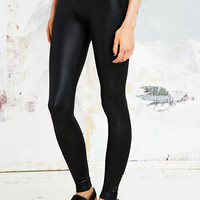 Sparkle & Fade Leather-Look Zip Leggings in Black - Urban Outfitters