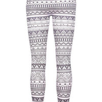 Black & White Tribal Legging