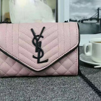 YSL:Roe sauce bag grain bag chain single shoulder bag