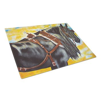 Day's End Horse Glass Cutting Board Large AMB1238LCB