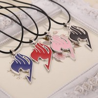 Charming Jewelry 2017 Alloy Fairy Tail Guild Sign Pendant Necklace 4 Colors Drop Shipping